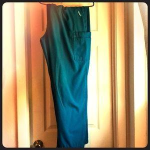 Turquoise men's Landau double pocket scrub pants